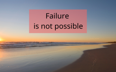 You Aren't Failing (Even if you think you are)